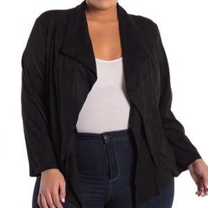 CATHERINE MALANDRINO Jacket Faux Suede Plus Sz NWT